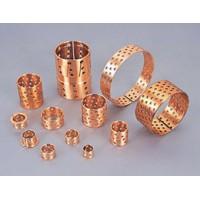 青铜卷制自润滑轴承 锡青铜布孔耐磨套 起重机专用轴承厂家